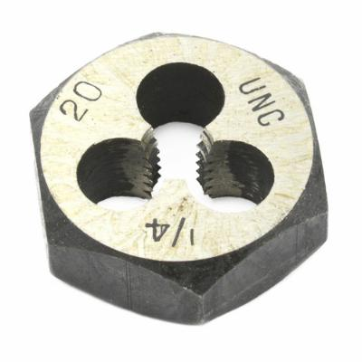 "Hex Re-Threading Die, 1/4"" x 20, Carbon Steel, UNC"