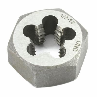 "Hex Re-Threading Die, 1/2"" x 13, Carbon Steel, UNC"