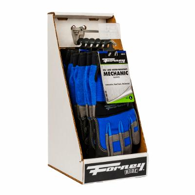 Premium Mechanic Work Gloves, 6-Piece Box Display (Men's L)