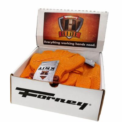 String Knit Honeycomb Gloves, 12-Piece Box Display (Size XL)
