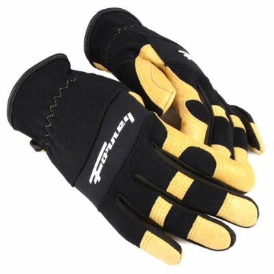 Premium Pigskin Leather Utility Work Gloves (Women's M)