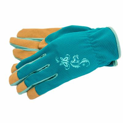 Utility Work Gloves, Blue-Brown (Women's M)