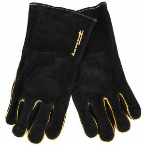 Black Leather Welding Gloves (Men's L)