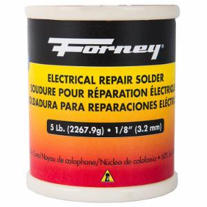 Solder, Electrical Repair, Rosin Core, 1/8