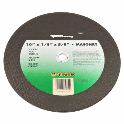 "Cutting Wheel, Masonry/Asphalt, Type 1, 10"" x 1/8"" x 5/8"""