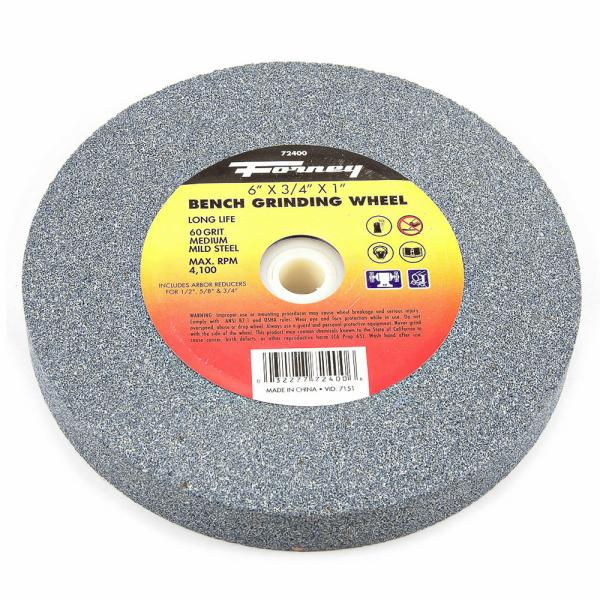 Astounding Bench Grinding Wheel 6 X 3 4 X 1 Forney Industries Machost Co Dining Chair Design Ideas Machostcouk
