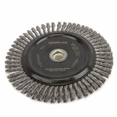 "Wire Wheel Brush, Stringer Bead, 7"" x .020"" x 5/8""-11"