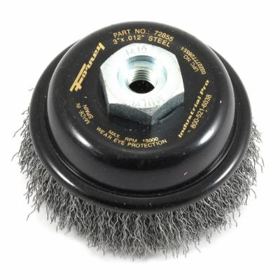 "Cup Brush Crimped, 3"" x .012"" x M10 x 1.25"