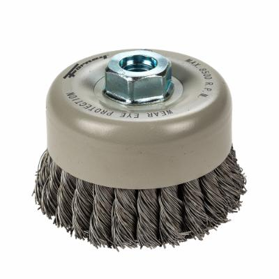 "Cup Brush Knotted, Double Row, 4"" x .020"" x 5/8""-11"