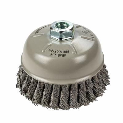"Cup Brush Knotted, 6"" x .020"" x 5/8""-11"