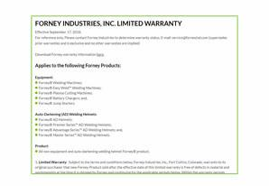 Quick links - warranty info