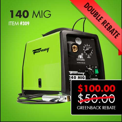 Forney 140 MIG Double Greenback Rebate