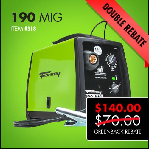 Forney 190 MIG Double Greenback Rebate
