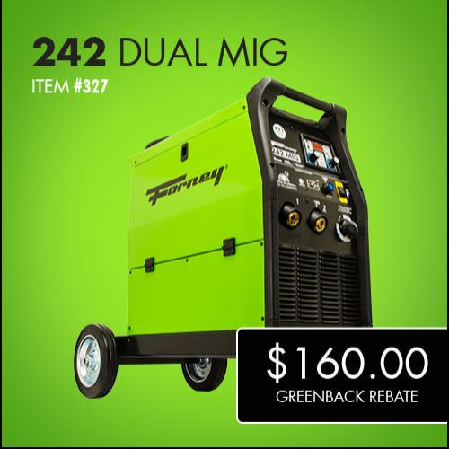 Forney 242 MIG Double Greenback Rebate