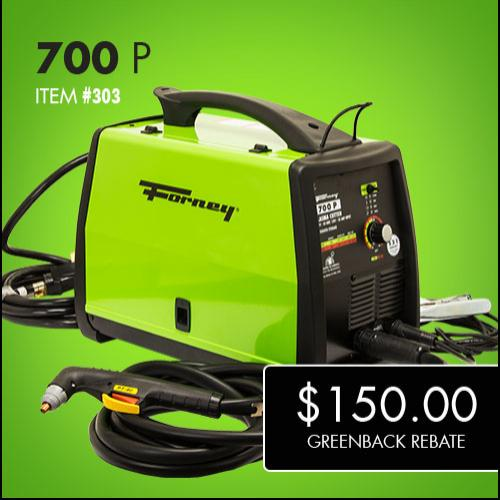 Forney 700 P Double Greenback Rebate