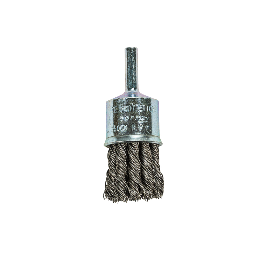End Brush Knotted 1 Quot X 020 Quot X 1 4 Quot Shank Forney Industries
