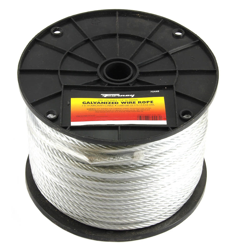 Wire Rope Aircraft Cable, 1/4\