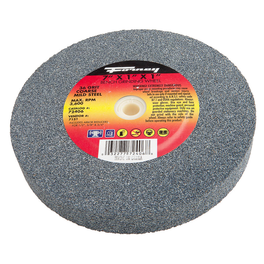 Strange Bench Grinding Wheel 7 X 1 X 1 Forney Industries Bralicious Painted Fabric Chair Ideas Braliciousco