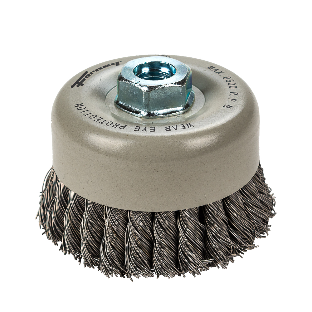 Cup Brush Knotted Double Row 4 Quot X 020 Quot X 5 8 Quot 11